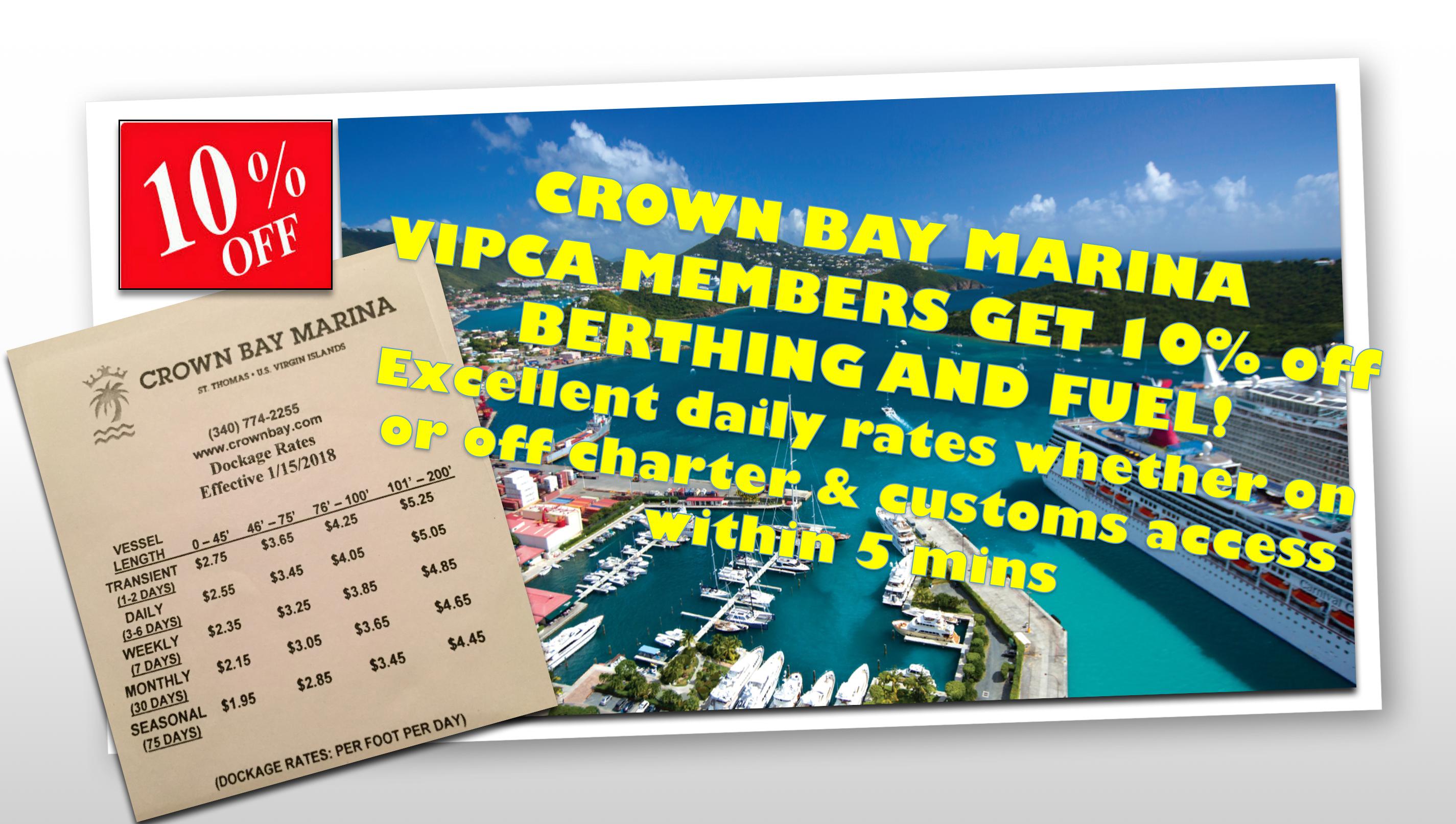 Crown Bay VIPCA discounts